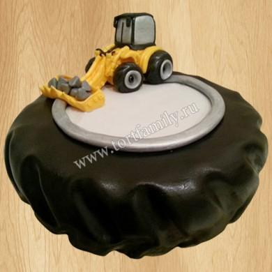 Торт колесо экскаватора