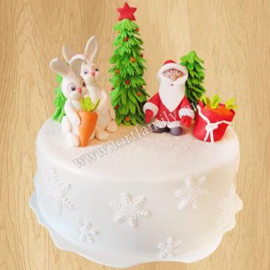 Новогодний торт с Дедом Морозом