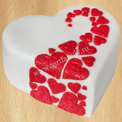 Торт сердце маме