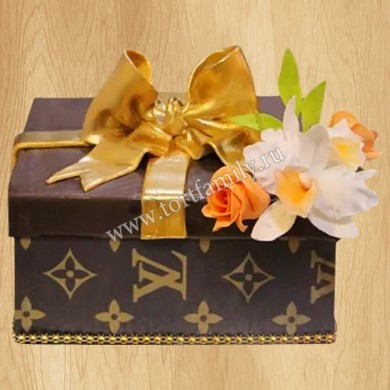 Торт Подарочная коробка Louis Vuitton