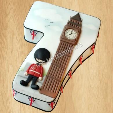 Детский торт часы