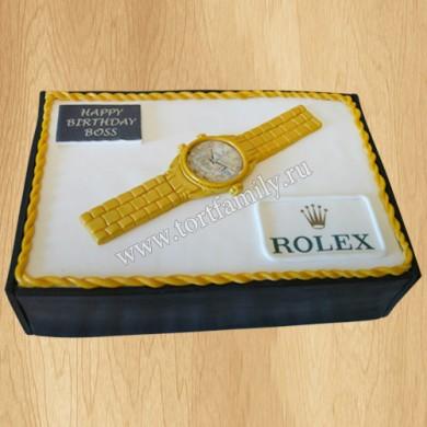 Торт Золотые часы Rolex