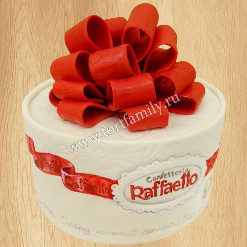 Торт в виде рафаэлло