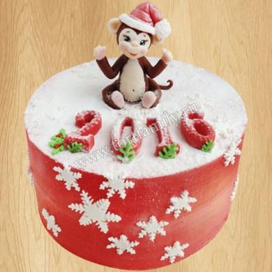 Новогодний торт 2016 с обезьяной