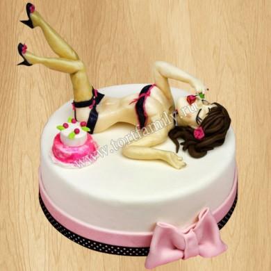 Торт женщина в нижнем белье