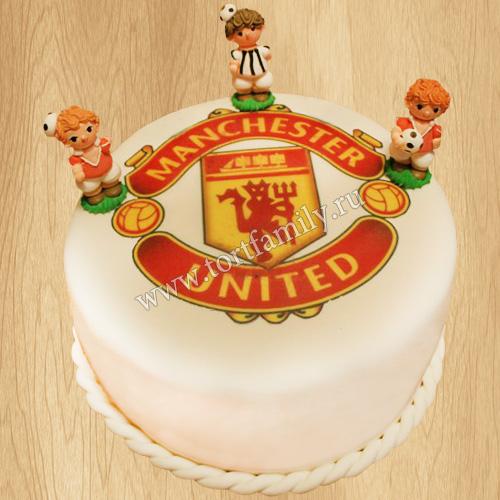 Торт для фаната Манчестер Юнайтед