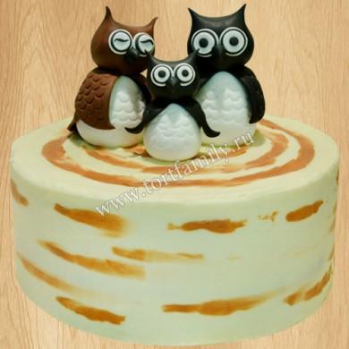 Торт с тремя совушками