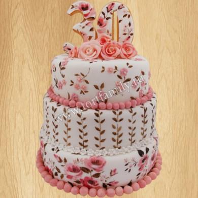 Торт на 30 лет маме