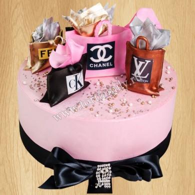 Торт Луи Виттон на день рождения