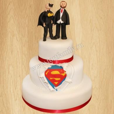 Свадебный торт Бэтмен