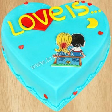 Торт сердце на годовщину отношений