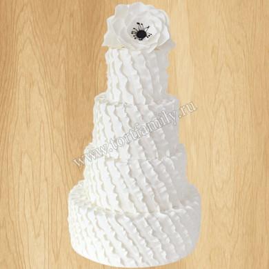 Торт на свадьбу с анемонами