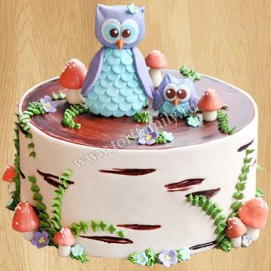 Торт с совами на день рождения