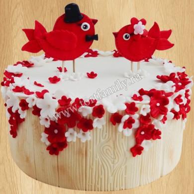 Торт на 40 годовщину семейной жизни