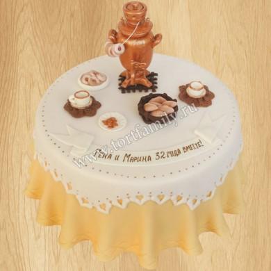Торт на медную годовщину свадьбы