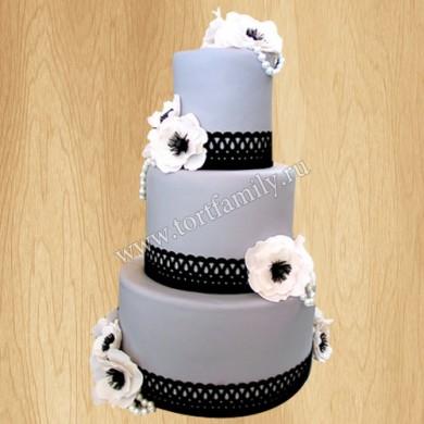 Торт с цветами Анемонаструм