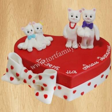 Торт сердечко