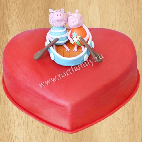 Свадебный торт со свинками