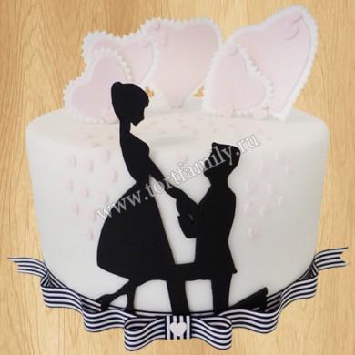 Торт с предложением выйти замуж