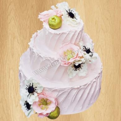 Кремовый торт с анемонами