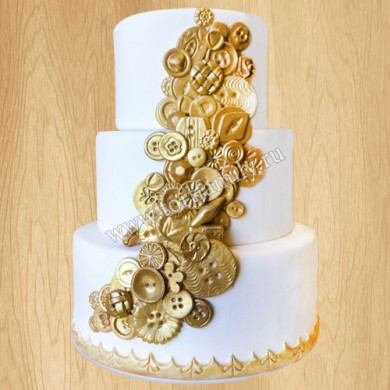 Торт на свадьбу в стиле стимпанк