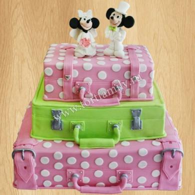 Свадебный торт Микки и Минни Маус
