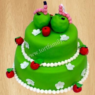 Свадебный торт с гусеницами
