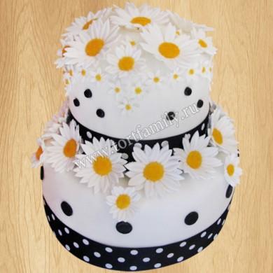 Торт на ромашковую свадьбу
