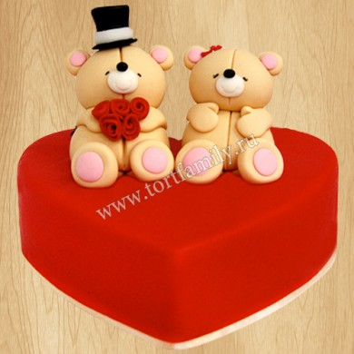 Торт сердце на свадьбу