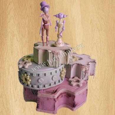 Торт на свадьбу Steampunk