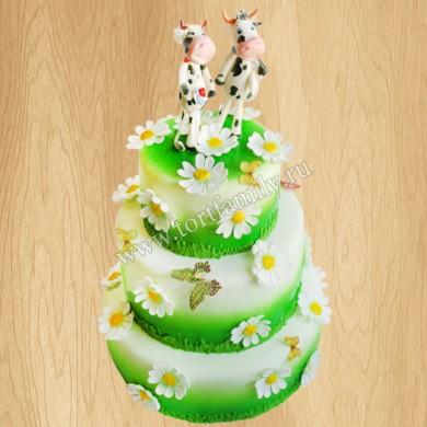 Свадебный торт с коровами