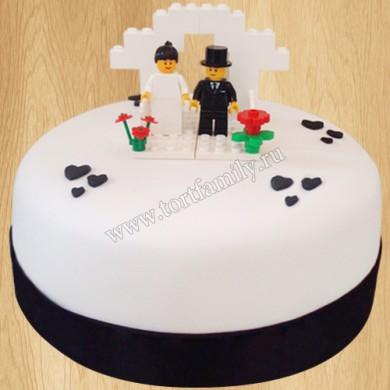 Свадебный торт в стиле Лего