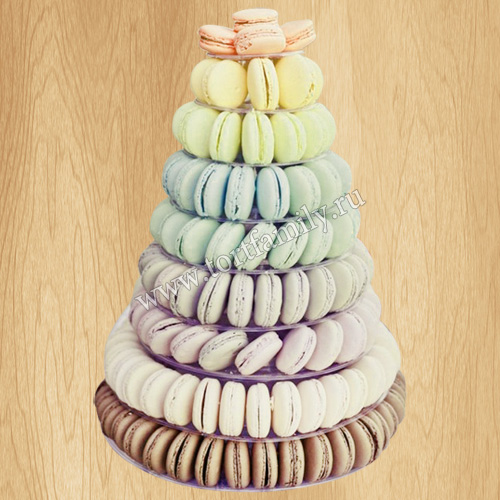 Башня с пирожными макарунами