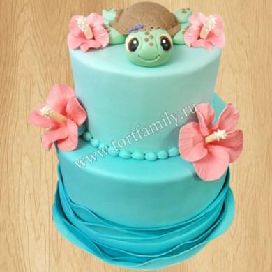 Свадебный торт с черепахой