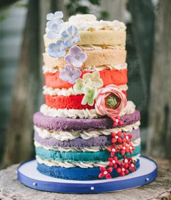 Несколько начинок в торте